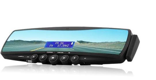 Review cybernetics : Bluetooth car rear view mirror